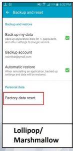 Samsung-J2-2015-Factory-reset-data