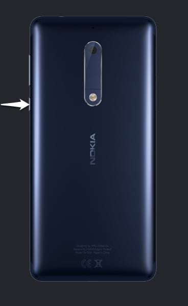 NOKIA 5 2017 Power-Button
