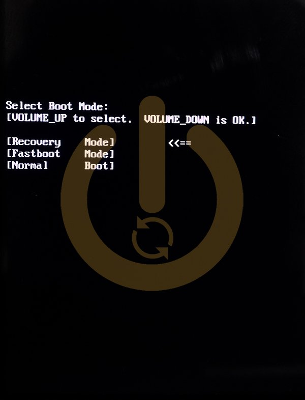 Select Boot Menu Recovery Mode